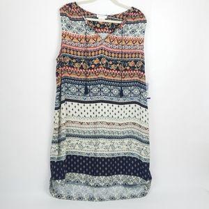 BeachLunchLounge Batik Boho Tunic Tank Shift Dress